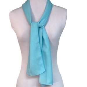 Accessories - Sky blue sheer scarf